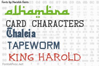 Harolds Fonts Fonts