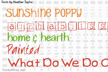 Heather Taylor Fonts