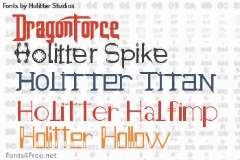 Holitter Studios Fonts