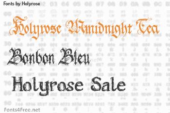 Holyrose Fonts