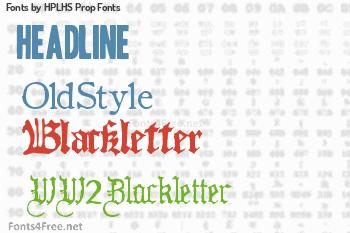 HPLHS Prop Fonts Fonts