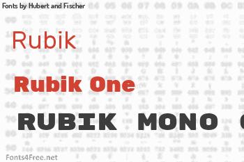 Hubert and Fischer Fonts