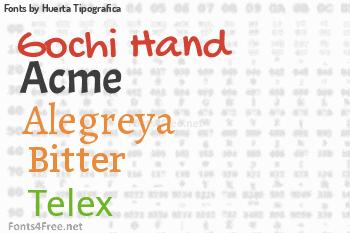 Huerta Tipografica Fonts