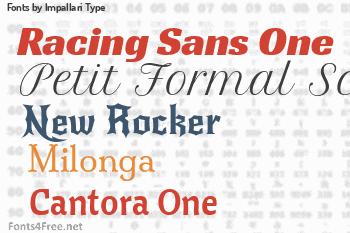 Impallari Type Fonts