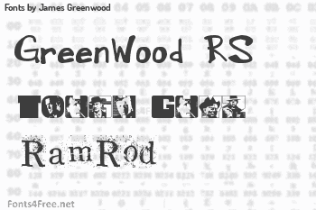 James Greenwood Fonts