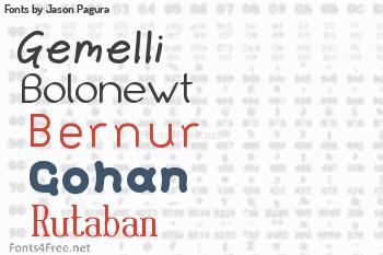 Jason Pagura Fonts