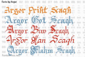 Argor Fonts