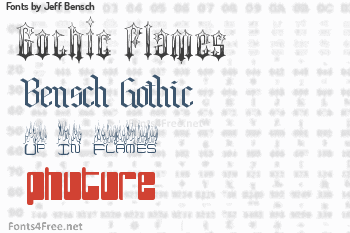 Jeff Bensch Fonts