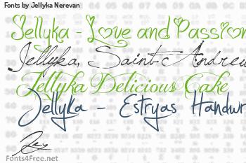 Jellyka Nerevan Fonts