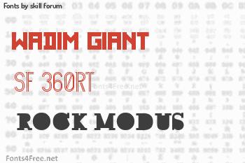 skill forum Fonts