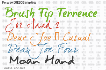 JOEBOB graphics Fonts