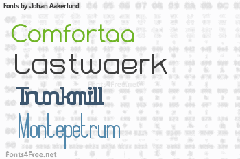 Johan Aakerlund Fonts
