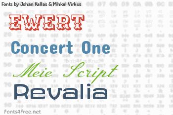 Johan Kallas & Mihkel Virkus Fonts