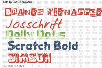 Jos Elsendoorn Fonts