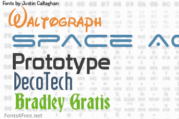 Justin Callaghan Fonts