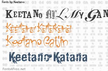 Keetano Fonts