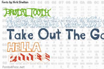 Kirk Shelton Fonts