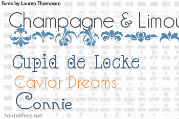Lauren Thompson Fonts