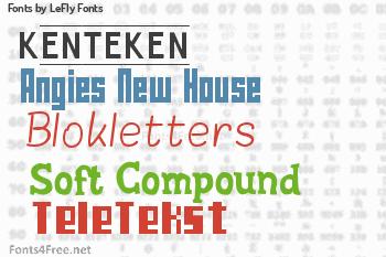 LeFly Fonts Fonts