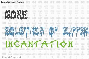 Leon Muerte Fonts