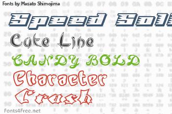 Masato Shimojima Fonts