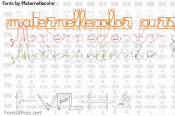 Maternellecolor Fonts