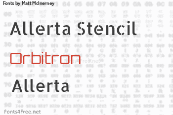 Matt McInerney Fonts
