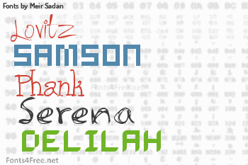 Meir Sadan Fonts