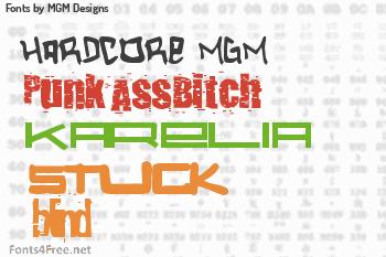 MGM Designs Fonts