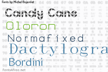 Michel Bujardet Fonts