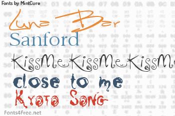 MintCure Fonts