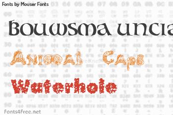 Mouser Fonts Fonts