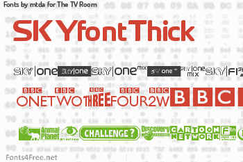 mtda for The TV Room Fonts