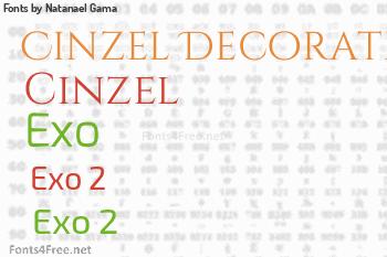 Natanael Gama Fonts
