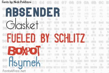 Nick Polifroni Fonts
