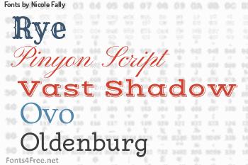 Nicole Fally Fonts