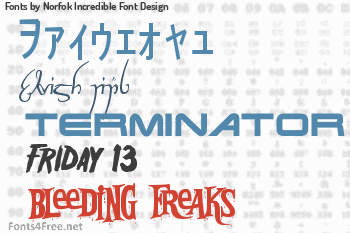 Norfok Incredible Font Design Fonts