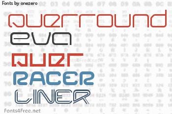 onezero Fonts