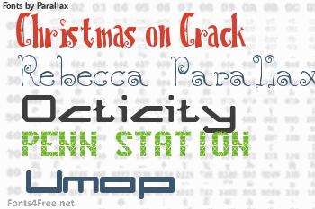 Parallax Fonts