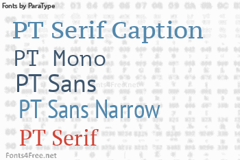 ParaType Fonts