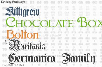 Paul Lloyd Fonts