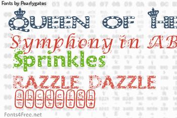 Pearlygates Fonts