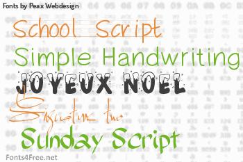 Peax Webdesign Fonts