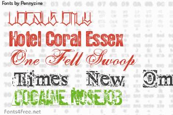 Pennyzine Fonts