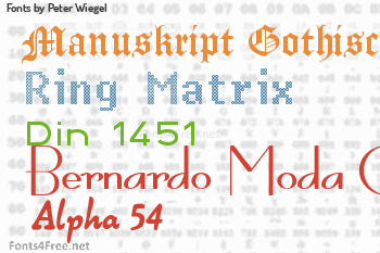 Peter Wiegel Fonts
