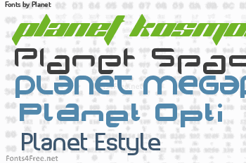 Planet Fonts