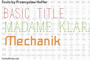 Przemyslaw Hoffer Fonts