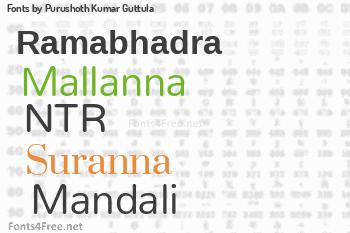 Purushoth Kumar Guttula Fonts