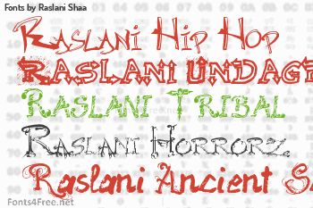 Raslani Shaa Fonts