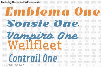 Riccardo De Franceschi Fonts
